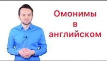 Омонимы в английском