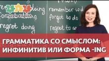 Грамматика со смыслом: инфинитив или форма -ING? Часть 1