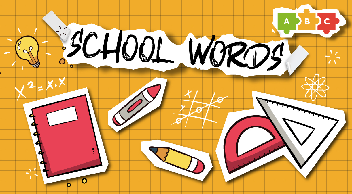 Stationery and school words
